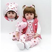 Pursue Baby La pequeña Jirafa Emily - Muñeca Niña Bebe Realista Peso Agregado, Piel de Vinilo RealTouch 24 Pulgadas