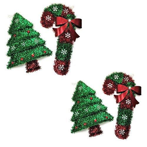 Christmas House Weihnachtsbaum und Candy Cane Wand/Weihnachtsdekoration zum Aufhängen Candy Lenox