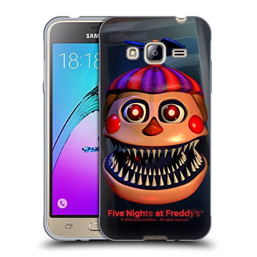 Official Five Nights At Freddy's Nightmare Balloon Boy Game 4 Soft Gel Case for Samsung Galaxy J3