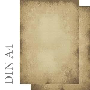 Briefpapier altes Papier Motivpapier beidseitig bedruckt 100 Blatt DIN A4 90 g/m² 5603