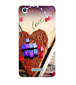 PrintVisa Romantic Love Hearts Cake 3D Hard Polycarbonate Designer Back Case Cover for LAVA PIXEL V1
