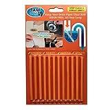 Dekontaminationsstäbchen, YooGer Pipes Clear, Kanalreinigungsstäbchen, geruchsfreie Reinigungsstäbchen (Orange)
