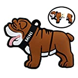 Niedlich und Neuheit Animal Series Bulldog Form Design 128GB USB 2.0 Flash Drive Pen Drive Speicher Stick Cartoon Thumb Drive Schöne Jump Drive Datenspeicher U Disk Geschenk