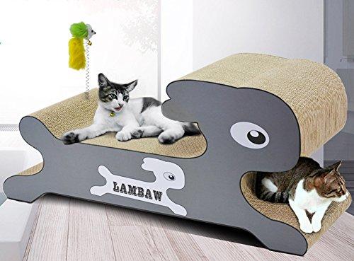 Cute Pet Katzenspielzeug Aus Pappe Scratch Play LuxuriöSes Kaninchen Modellierung Und Interaktion Mit Interaktiven Hanf Stab Geriffelte Katze Kratzer 700x250x318mm MT-056