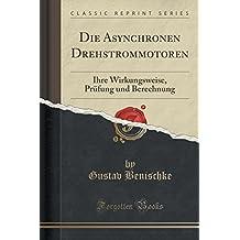 Die Asynchronen Drehstrommotoren: Ihre Wirkungsweise, Prüfung und Berechnung (Classic Reprint)