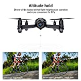 Potensic Drone con Telecamera WiFi FPV 2.4Ghz , Drone Telecomandato Funzione di Sospensione Altitudine,Allarme di fuori la gamma di volo,con SD Scheda di 4G