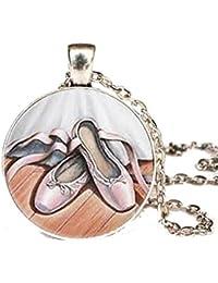 bd6742a2aa CARINGA - Collana ciondolo Medaglione Scarpette da Ballo - Danza Classica