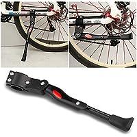 """Mopalwin Béquille de vélo, Alliage d'Aluminium Réglable Bike stand Caoutchouc antidérapant Kick Stand d'alliage MTB Montagne Cyclisme Vélo Béquille 22"""" - 28"""" (Noir)"""