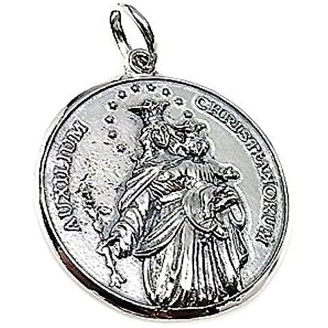31 millimetri 925m legge ciondolo in argento. Vergine Maria Aiuto [AA8223]