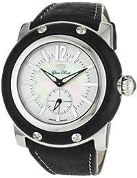 Glam Rock GR10012 - Reloj analógico de cuarzo para mujer con correa de piel, color negro