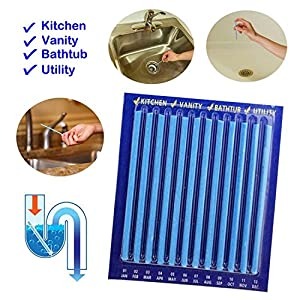 fosa sanitaria: yenjos Cleaning Sticks enzima Atic Drain Cleaning Sticks Azul Pipeline bañera de...