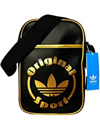 adidas Small Items Bag kleine Tasche Trefoil schwarz gold