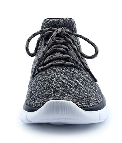 Santiro Homme Chaussures de Course Sports Fitness Gym athlétique Baskets Sneakers. Gris