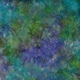 Fabric Freedom Emerald Green Mist, 100% Baumwolle, Batik
