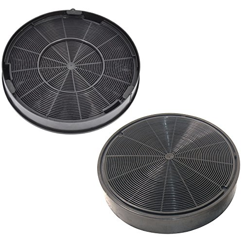 SPARES2GO Anti-Odour Charcoal Carbon Filters For Rangemaster Cooker Hood Vent (200 x 28 mm, Pack of 2)
