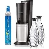 SodaStream Aqua Fizz Sparkling Eau Maker Kit de démarrage avec 2carafes en verre avec Fizz Préservant les caches et 1cylindre de co2de 60L, éclatante de conception élégante et raffinée, transforme robinet dans l'eau en quelques secondes.