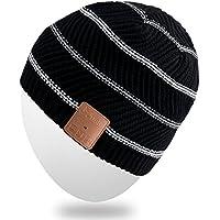 Mydeal drahtlose Bluetooth-Hut-Kappe für Männer Frauen mit Stereo-Kopfhörer Lautsprecher Hände frei Iphone Android Handys für Gym Ski-Snowboard-Rennen Skating Wandern, Weihnachtsgeschenke