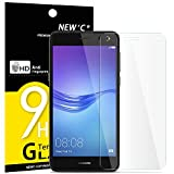 NEW'C Verre Trempé pour Huawei Y6 (2017), Film Protection écran - Anti Rayures - sans Bulles d'air -Ultra Résistant (0,33mm HD Ultra Transparent) Dureté 9H Glass