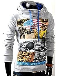 Herren Hoodie Pullover American Style Sweatjacke Pulli