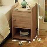 FJIWDTGYHFGT Einfacher Mini-nachttisch,Schlafzimmer Bett Schrank,Raum schmaler Schrank Schließfächer montieren-D 30x30x50cm(12x12x20)