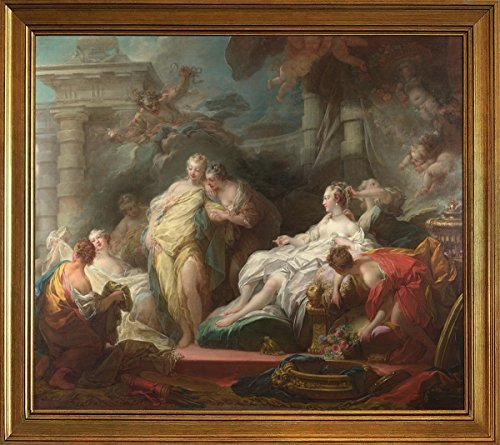 Berkin Arts Klassisch Rahmen Jean Honore Fragonard Giclée Leinwand Prints Gemälde Poster Reproduktion(Psyche, die Ihren Schwestern Ihre Geschenke vom Amor Zeigt) (Fragonard Geschenk)