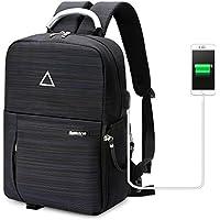 Koolertron Sac à Dos avec Port de Chargement USB Imperméable Multi-fonction Unisexe pour Appareil photo Réflex SLR DSLR Canon Nikon Sony etc. (Noir Fluorescent)