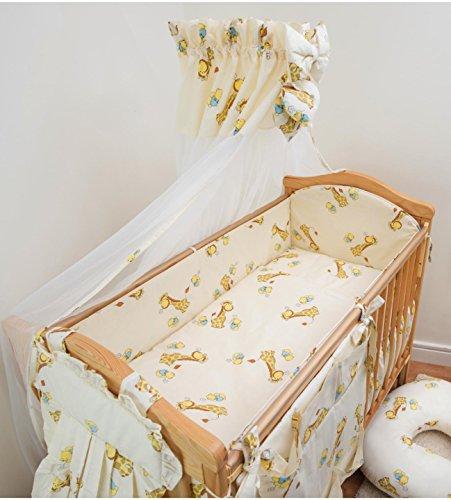 Bettbezug Bettwäsche-Set, 10Stück für Babybett–90x 40cm–Bär auf dem Mond–Weiß (Jungen-baby-krippe Bettwäsche-sets)