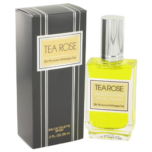 Tea Rose by Perfumer's Workshop Eau de Toilette 2 oz Spray Cologne 56 ML With Ayur Lotion FREE
