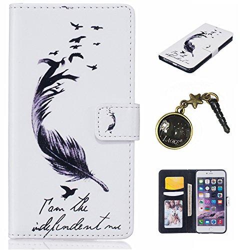 PU Cuir Coque Strass Case Etui Coque étui de portefeuille protection Coque Case Cas Cuir Swag Pour Apple iPhone 6/ iPhone 6S (4.7 pouces)+Bouchons de poussière (1AB) 1
