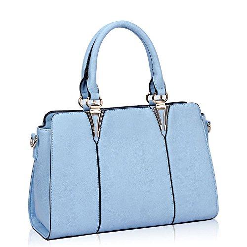 HB Style , Cabas style de luxe Fille femme bleu