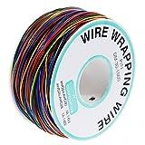 Anpro 280m 8 Fils 30AWG Rouleau de Câble Fil Electrique Câble de test Wrapping En Cuivre Etamé Isolant En PVC P/N B-30-1000 -8 couleurs pour du câblage électronique