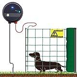 VOSS.farming 50m Komplettset grün für Sehr Kleine Hunde Weidezaungerät Elektronetz Hundezaun