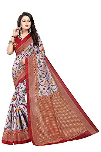 Saree(Harikrishnavilla Saree For Women Party Wear Half Sarees Art Silk New Collection 2018 In Latest With Designer...
