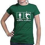 My Husband Guitarist Musician (59 Les Paul, Strat Guitar) Ladies T shirt (Top)
