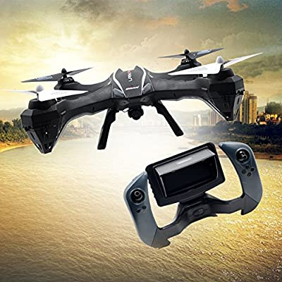 Yacool ® U818S Large 4-Axis Gyroscope RC Quadcopter Drone with FPV 2MP Camera & WIFI-818 Real Time FPV Remote Control (Black Color?