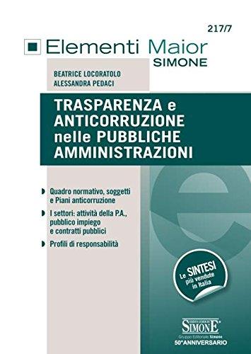 Trasparenza e anticorruzione nelle pubbliche ainistrazioni