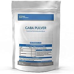 GABA (150g 100% Ohne Zusätze) 50 Portionen! • Reine Gamma Amino Buttersäure Pulver| HGH - Wachstumshormon-Ausschüttung | Muskelaufbau, Regeneration | In bester Premium Qualität zum Besten Preis!