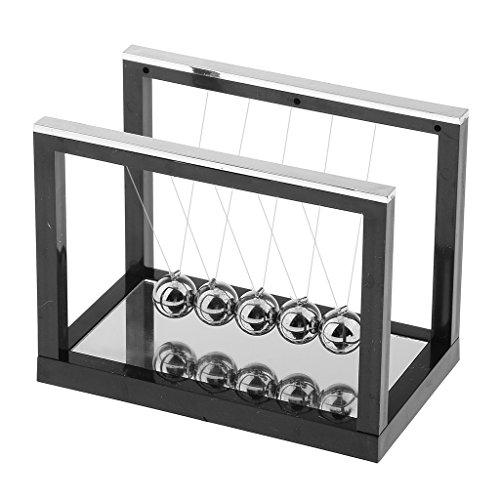Sharplace Kugelspiel Kugelpendel Pendel Newtonpendel Kugelspiel Cradle Balance Bälle Spielzeug - Schwarz