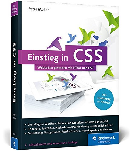 Einstieg in CSS: Webseiten gestalten mit HTML und CSS Buch-Cover