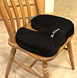 MedX Coccyx Cushion Pillow For Chairs | Pain Relief From Back Sciatica Pinched Nerve Piriformis Syndrome Lumbosacral Spondylosis Fibromyalgia and Bruised Tailbone | Medical Grade by Med-X