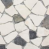 Mosaik Fliese Marmor Naturstein beige schwarz Bruch Ciot BianconeJava für BODEN WAND BAD WC DUSCHE KÜCHE FLIESENSPIEGEL THEKENVERKLEIDUNG BADEWANNENVERKLEIDUNG Mosaikmatte Mosaikplatte