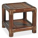 Festnight Bambus Nachttisch Nachtschrank Bambustisch Beistelltisch mit 1 Ablageboden 40 x 40 x 40 cm