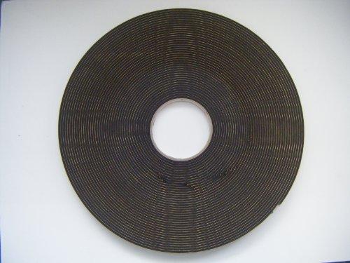 Greenhouse Verglasungsdichtung aus PVC für Gewächshäuser, UV-beständig, Rolle à 25 m Schwarz, 3 mm x 10 mm