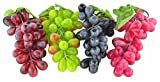 4 mazzi di fiori artificiali nero, rosso, verde e viola UVA Fake Fruit Home House Kitchen party wedding Decoration Photography