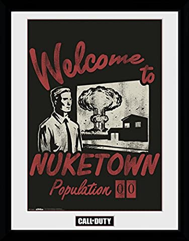 GB eye Ltd Call of Duty, Welcome To Nuketown, Framed Poster 30x40cm, Various