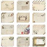 60x namgiy Umschlag klein Vintage Mini Geld Bunte Umschlag für Hochzeit Geburtstag Baby Weihnachten Karten Basteln mit europäischen Stil 9,5* 7,2cm