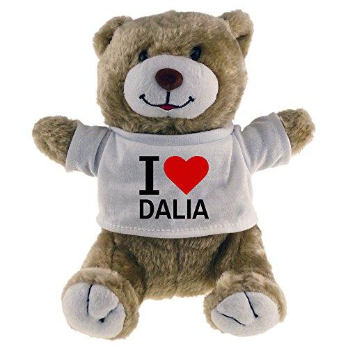 Multifanshop Kuscheltier Bär Classic I Love Dalia beige - Stofftier Püschtier Schmusetier Dalia Bar