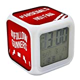 Koolart Arsenal Multi Image Personalised Digital LED Alarm Clock - Light up colours