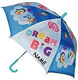 Unbekannt Regenschirm / Stockschirm -  My Little Pony - Einhorn & Pferde  - incl. Name - BLAU - Kinderschirm - Ø 78 cm - Kinder Schirm Kinderregenschirm / Glockenschi..