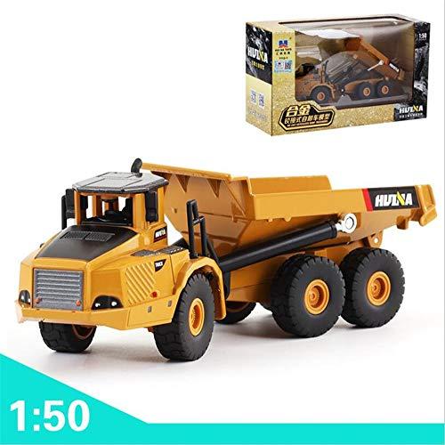 Preisvergleich Produktbild 1 / 50 Maßstab Simulierte Legierung Knickgelenkt Muldenkipper Modell Kinder Taxi Engineering Spielzeugauto Modell Und Haus Dekoration (Lkw)